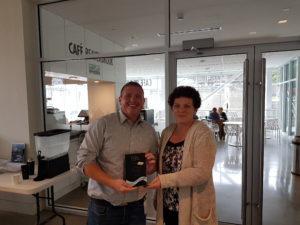 Dallas Gillis receiving his volunteer award